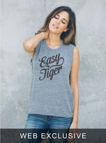Junk Food Clothing Easy Tiger Raglan Tank-steel-l