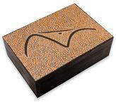 Artisan Crafted Wood Tea Box in Orange 6 Compartments, 'Orange Sugarloaf Mountain'