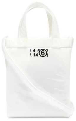 MM6 MAISON MARGIELA Mini Logo-print Pvc And Foam Tote Bag - Clear