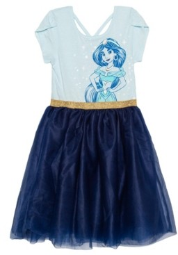 Disney Big Girls Jasmine Short Sleeve Tutu Dress