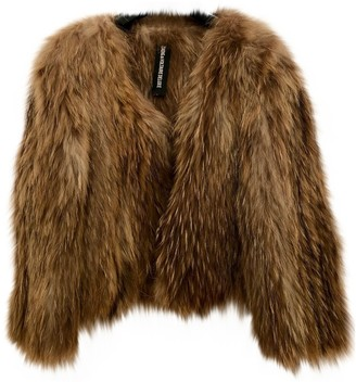 Zadig & Voltaire Beige Raccoon Coat for Women