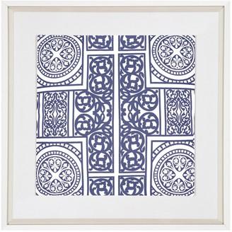 Bandhini Madrid Navy Fabric Artwork