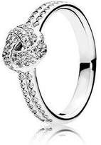 Pandora Sparkling Love Knot Clear CZ Ring Size 5 - 190997CZ-50