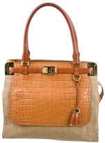 Michael Kors Leather Embossed Shoulder Bag