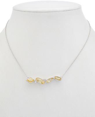 Judith Ripka Rio Silver Cz Pendant Necklace