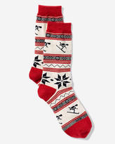 Eddie Bauer Women's Crew Socks - Ski & Snowflake
