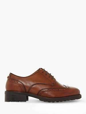 Dune Fion Wide Fit Leather Brogues