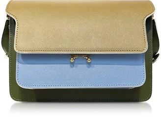 Marni Color Block Saffiano Leather Mini Trunk Bag