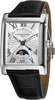 Frederique Constant Men's FC-330MS4MC6 Carree Moonphase Silver Moonphase Dial Watch