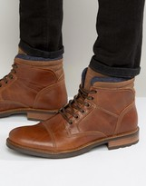 Aldo Onerillan Leather Shearling Boots