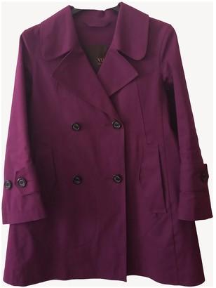 Louis Vuitton Purple Cotton Trench coats