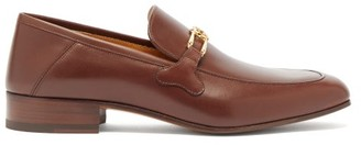Gucci Phyllis Leather Loafers - Mens - Brown