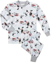 Sara's Prints Toddler Boys' Super Soft Relaxed Fit Pajama Set, Hockey Guys-Hkg, 24M