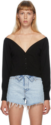 Alexander Wang Black Fitted Cropped Cardigan