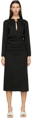 CHRISTOPHER ESBER Black Cummerbund Orbit Dress
