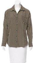 Diane von Furstenberg Printed Button-Up Top