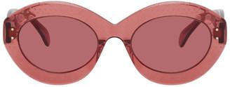 Alaia Pink Oversized Cat Eye Sunglasses