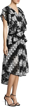 Romance Was Born Constellation Star Lace Hi-Lo Dress