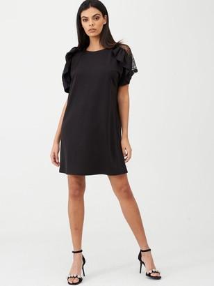 River Island Frill Swing Dress -Black