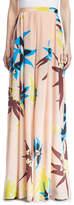 DELPOZO High-Waist Fluid Wide-Leg Floral-Print Silk Pants
