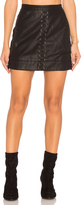 Blank NYC BLANKNYC Lace Up Faux Leather Skirt
