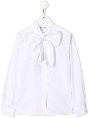 Dolce & Gabbana Kids Pussybow Long Sleeve Shirt