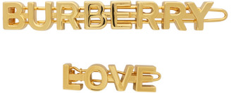 Burberry Gold Logo and Love Hair Clips