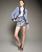 Thakoon Addition Seamed Floral-Print Miniskirt