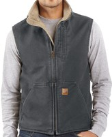 Carhartt Sandstone Mock Neck Vest - Sherpa Lining (For Big Men)