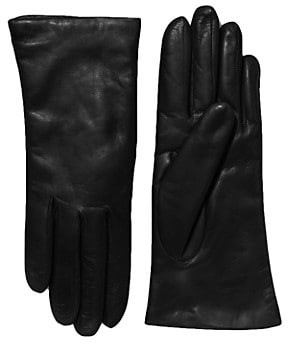 Saks Fifth Avenue Cashmere-Lined Leather Gloves