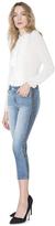 Alice + Olivia Jane Chain Insert Crop Flare Jean