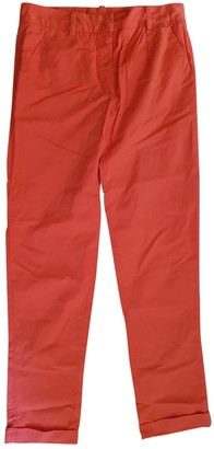 Carven Red Cotton Trousers