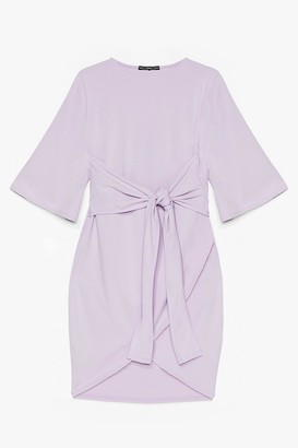 Nasty Gal Womens No Harm in Tie-ing Plus Wrap Dress - Lilac