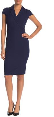 Alexia Admor Cap Sleeve Midi Sheath Dress