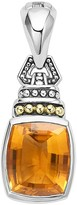 Lagos 18K Gold and Sterling Silver Caviar Color Pendant with Citrine