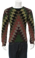 Valentino Patterned Crew Neck Sweater