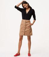 LOFT Petite Tie Waist Cargo Skirt