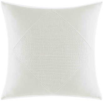 Nautica Bronwell Ivory Pieced Pintuck Square Pillow Bedding