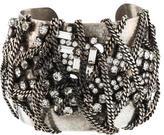 Dannijo Crystal & Chain Cuff Bracelet