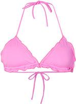Ermanno Scervino frill bikini top - women - Polyamide/Polyester/Polyurethane/Spandex/Elastane - S