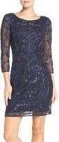 Adrianna Papell Women's Embellished Mesh Sheath Dress