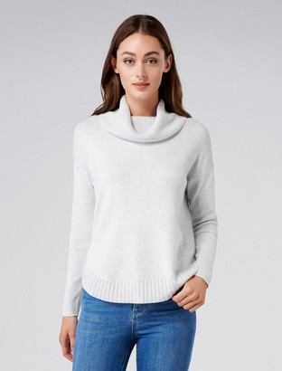 Forever New Lilian Roll Neck Jumper - Iced Grey - xxs