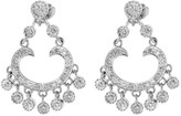 Glk 14k White Gold Diamond Chandelier Earrings