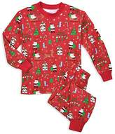 Sara's Prints Unisex Santa-Print Holiday Pajama Set - Little Kid