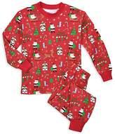 Sara's Prints Unisex Santa-Print Holiday Pajama Set - Little Kid