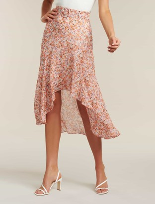 Forever New Arabella Belted High Low Skirt - Packed Floral Ditsy - 4