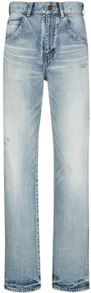 Saint Laurent High-Waisted Straight-Leg Jeans