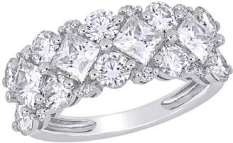 Stella Grace 10k White Gold 1/10 Carat T.W. Diamond & Lab-Created Moissanite Engagement Ring
