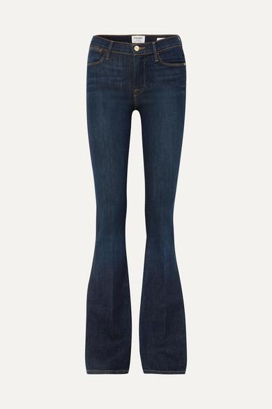 Frame Le High High-rise Flared Jeans - Dark denim