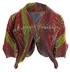 Issey Miyake Women's Sparkle Pleats Balloon Sleeve Short Jacket